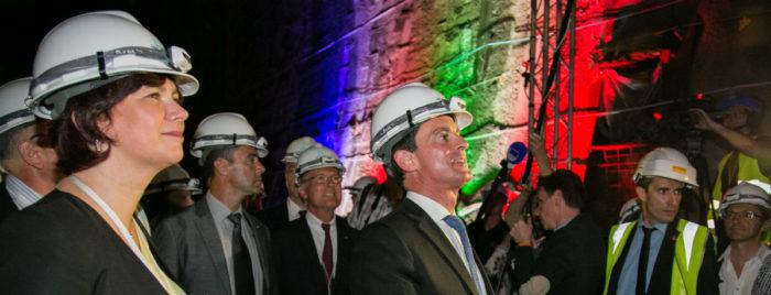 Manuel Valls inaugure le tunnelier Federica