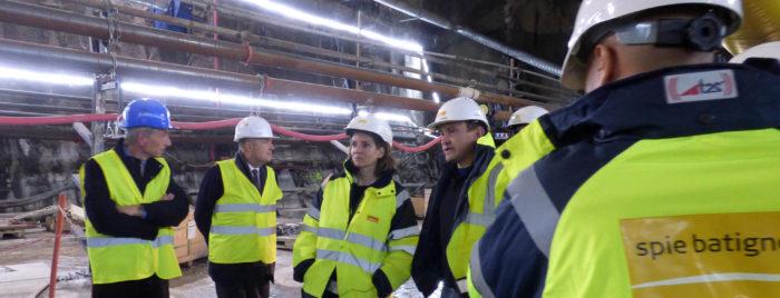 Nathalie Kosciusko-Morizet en visite sur le chantier du Lyon-Turin